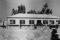 On February 2, 1954 there was a spectacular snow storm. This picture shows the Central Offices.